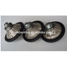 longa vida e alta qualidade Vacuum brazed diamond profile wheel for granite