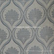 Grey 2015 Tissu de rideau jacquard à carreaux de haute qualité
