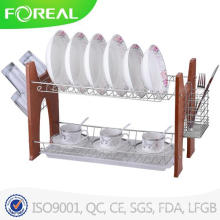 Walterdrake 22 Inch Two-Tier Compact Dish Rack
