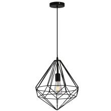 Lâmpada de pendente de suspensão de fio de ferro geométrico