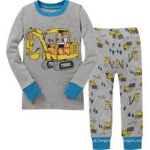 Algodão confortável pano crianças set manga comprida calças compridas