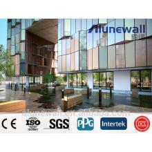 Alunewall главные продукты пожаробезопасный медные и алюминиевые композитные панели КПК с Максимальная ширина 2 метра