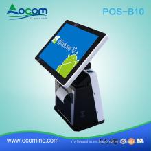 POS-B10: pantalla táctil económica todo en una máquina de sistema POS con impresora térmica incorporada