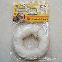 """Productos para Mascotas 5 """"-6"""" Mascota Puffy Donut Dog Blanco"""