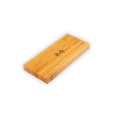 Eco Bamboo Wood Wireless Charging Power Bank Dual USB Output Bamboo Wireless Charging 5000mah Power bank for mobile phone