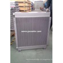 Placa trocador de calor de barra para compressor