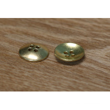 A-clase de metal personalizado de oro / bronce antiguo de chapado de costura 4 agujeros botón de encaje
