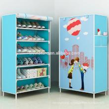 Стальная труба обуви хранения шкаф полки
