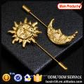 Wholesale Antique Silver Pin Brooch Gemstone Men Brooch #5334
