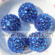 Blue Hot Sale Resin Rhinestone Beads 20*22MM For Necklace Making