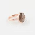 Handmade Smoky Quartz 925 Silver Ring in Wholesale Price