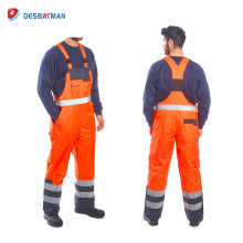 Hi Viz Safety Waterproof Suit Coveralls Overalls Mens EN471 Reflective Tape Workwear