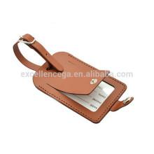 коричневый кожаный бирка багажа идея подарка