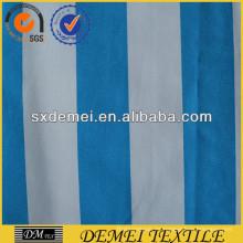 tela algodón azul y blanco a rayas para la almohadilla del sofá