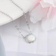 Opal Stone Hot Sale Popular 925 Sterling Silver Jewelry Opal Necklace for Women