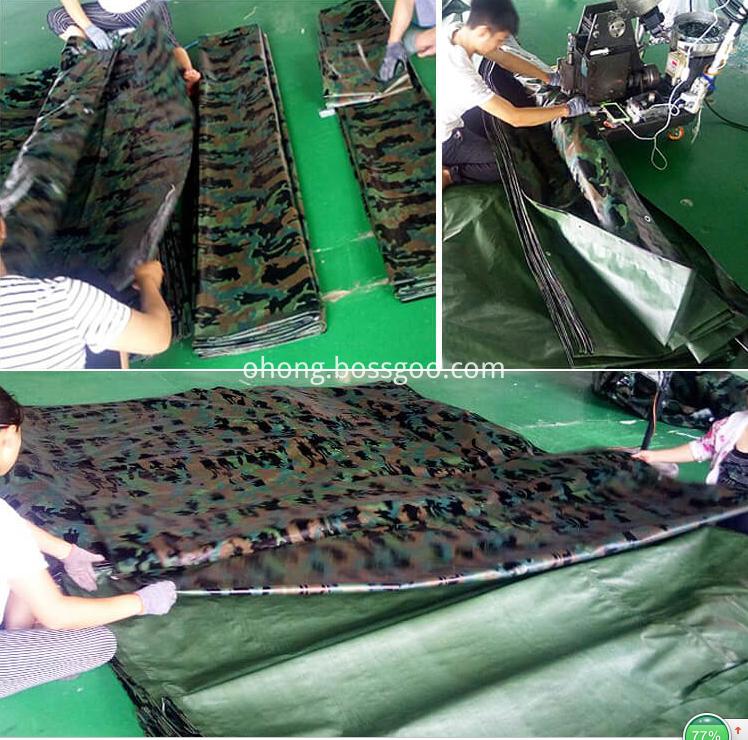 Camoflage PE tarpaulin sheet Ground Cover
