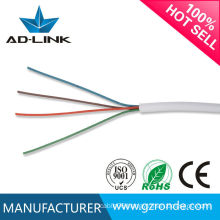 4C White Spiral Rj11 Telephone Cable Use For Telephone