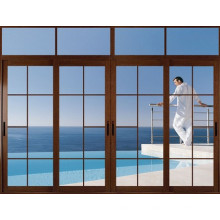 Porte en verre coulissante d'alliage d'aluminium coulissante de prix bon marché double
