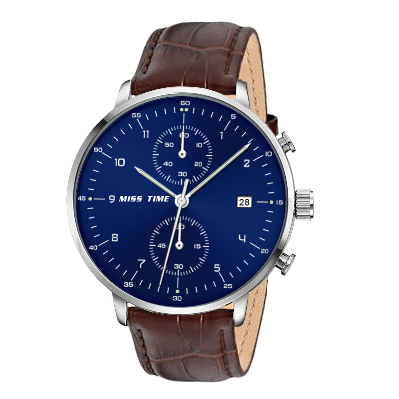 Minimalist style Chronograph multifunctional mens quartz watch