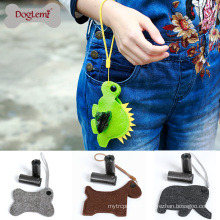 Cute Design Felt Pet Dog Waste Bag Dispenser Holder Custom Dog Poop Bag Dispenser