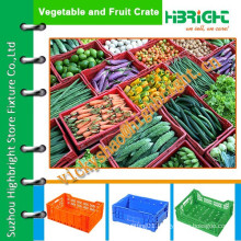 vegetable plastic crate for morning market/logistics crates for agriculture