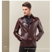 OEM Plus Size Latest Fasion Winter Office Men′s Leather Jackets