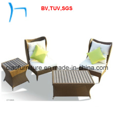F- Hot Selling Outdoor Garden Wicker Sofa Set (CF1000F+CF1000E+CF1000T)