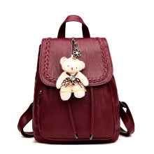 Fashion pinkycolor colorful and school leather Backpacks