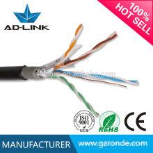 ISO9001 paire torsadée 0.50mm paire torsadée FTP cat5e câble de réseau extérieur