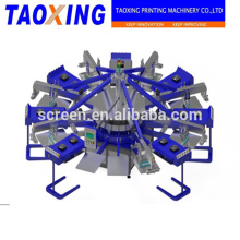 multicolor color&page and mew condition 10 color 10 dryer automatic fabric screen printing machine