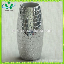 2014 home decor silver ceramic vase modern design