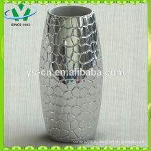 2014 домашний декор серебряная керамическая ваза современный дизайн