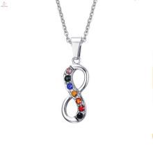 Nouveau design de dernière conception en acier inoxydable Infinity collier