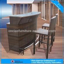Mobília de plástico ao ar livre da barra de rattan