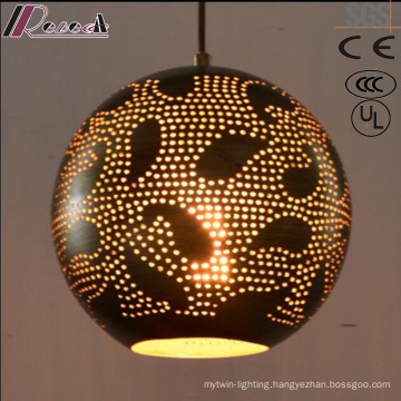 fashion Spheroidal Black Hollow Pendant Light with Dining Room