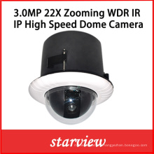 3.0MP 22X CCTV IR High Speed Dome IP PTZ Camera