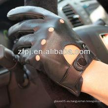 Guantes de cuero de la motocicleta del diseño corto ZF100 para los importadores
