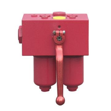 Lube oil duplex pressure filter housing