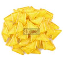 Carreaux de mosaïque jaune en vrac pour cadre photo en mosaïque
