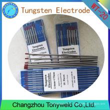 Electrodo de soldadura Wt20 Electrodo de tungsteno