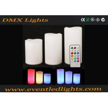 White LED Decorative Candles Pillar For Wedding / Home Part