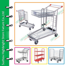 supermarket grocery trolley cart for cargo storage