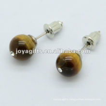 6MM Tiger Gemstone studded earring