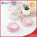 Elegância rosa pontilhada xícara de café e vaso de cerâmica chá xícaras e pires