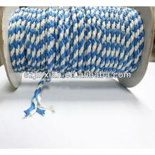 Cuerda trenzada PP, cuerda trenzada blanca y azul