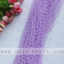High Quality for Pearl Wire Garland 3MM Light Purple Imitation Pearl Beaded Chains Trimming For Party Supplies supply to Peru Supplier