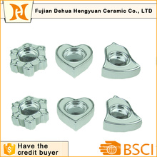 Ceramic Plating Candle Holder for Home Decoration