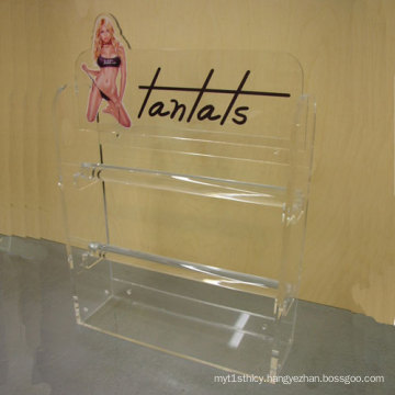 Double Side Clear Acrylic Display Shelf for Clothes