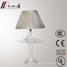 Lampe de table blanche de chevet de résine pour le projet d'hôtel