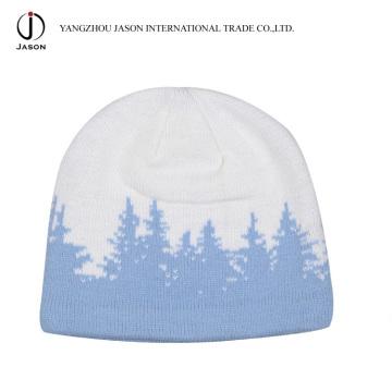 Sombrero de jacquard de invierno Sombrero de invierno cálido Sombrero de jacquard de punto jacquard de punto hecho a ganchillo Jacquard de acrílico
